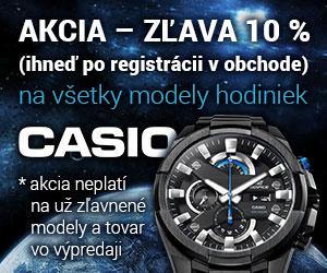 Hodinky Casio - AKCIA do 31.3.2016 - rýchle dodanie!